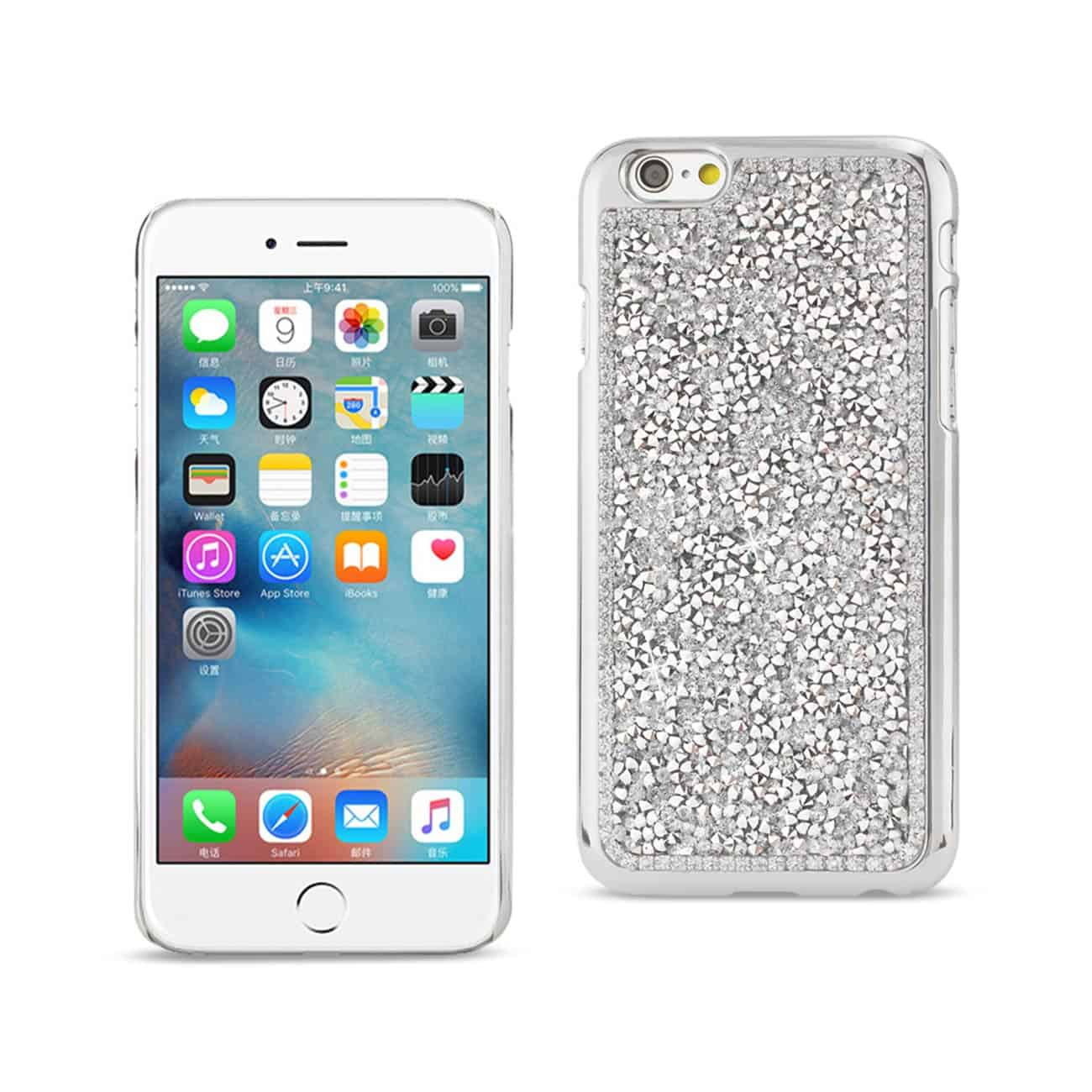 IPHONE 6S/ IPHONE 6 JEWELRY BLING RHINESTONE CASE IN SILVER