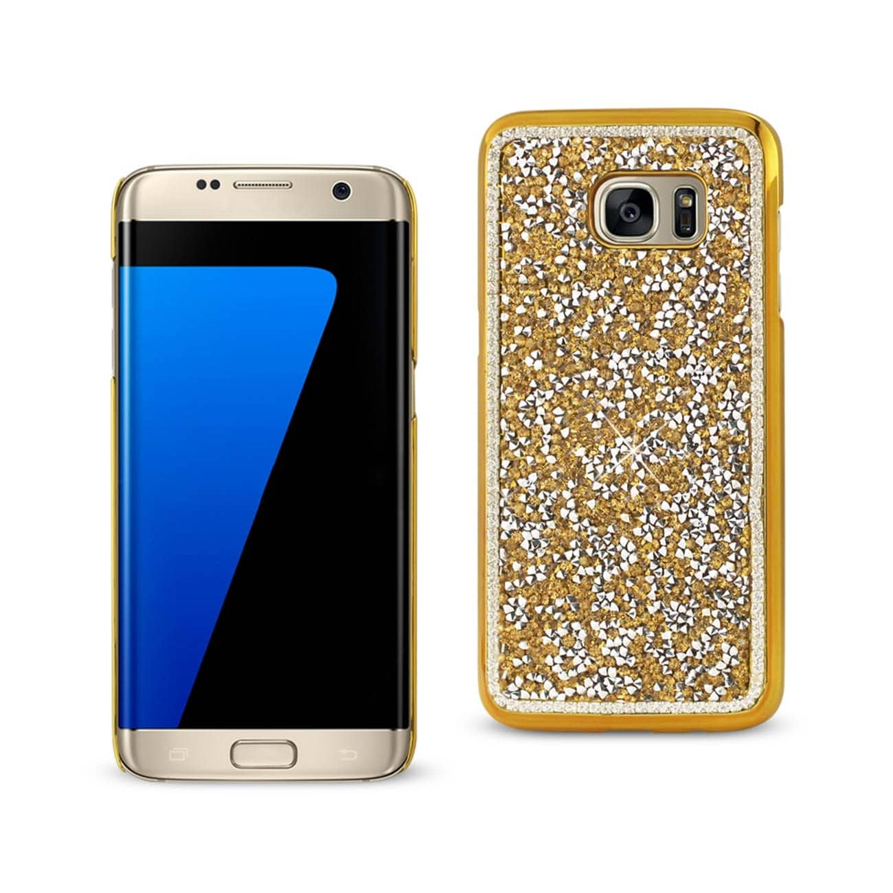 SAMSUNG GALAXY S7 EDGE JEWELRY BLING RHINESTONE CASE IN GOLD