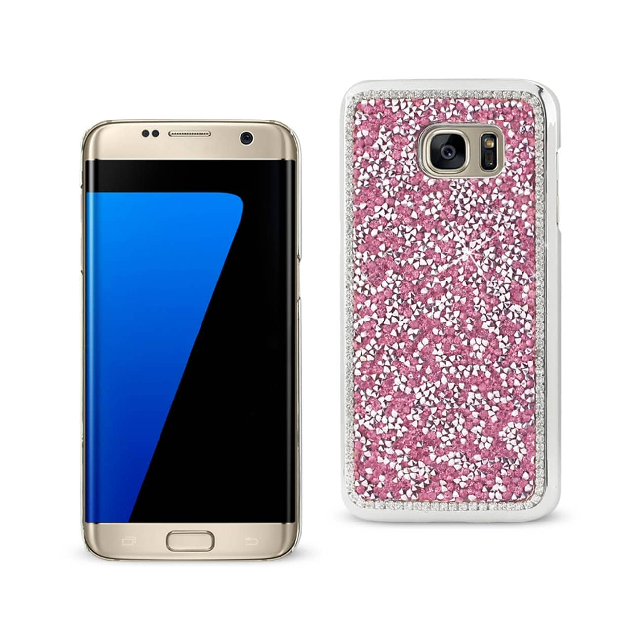SAMSUNG GALAXY S7 EDGE JEWELRY BLING RHINESTONE CASE IN PINK