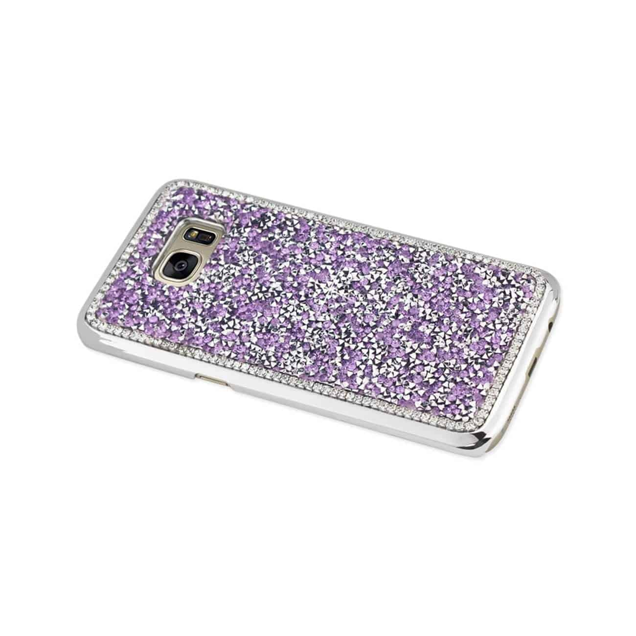 SAMSUNG GALAXY S7 EDGE JEWELRY BLING RHINESTONE CASE IN PURPLE