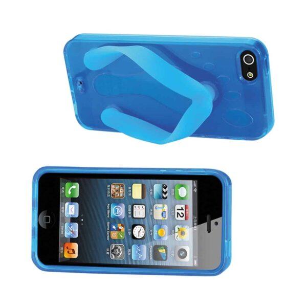 IPHONE SE/ 5S/ 5 SILICONE SLIPPER SANDAL CASE IN BLUE