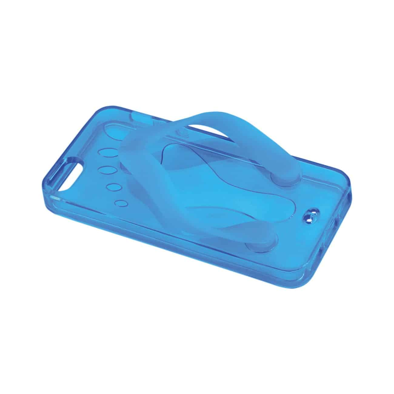 IPHONE SE/ 5S/ 5 SILICONE SLIPPER SANDAL CASE IN BLUE