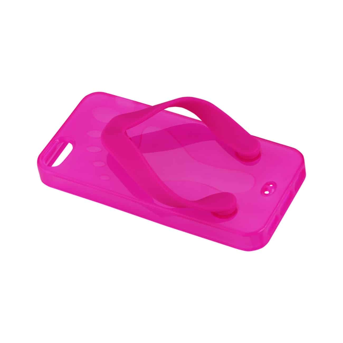 IPHONE SE/ 5S/ 5 SILICONE SLIPPER SANDAL CASE IN HOT PINK