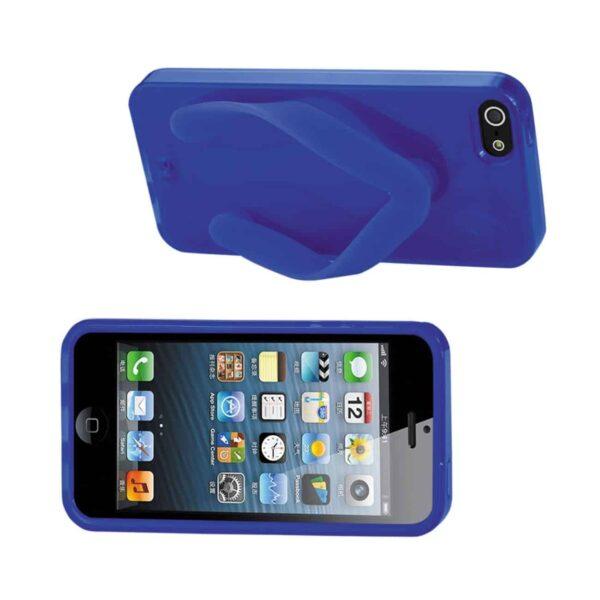 IPHONE SE/ 5S/ 5 SILICONE SLIPPER SANDAL CASE IN NAVY