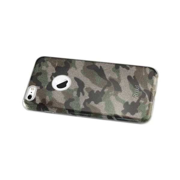 IPHONE 6 PLUS/ 6S PLUS SHINE GLITTER SHIMMER CAMOUFLAGE HYBRID CASE IN GREEN