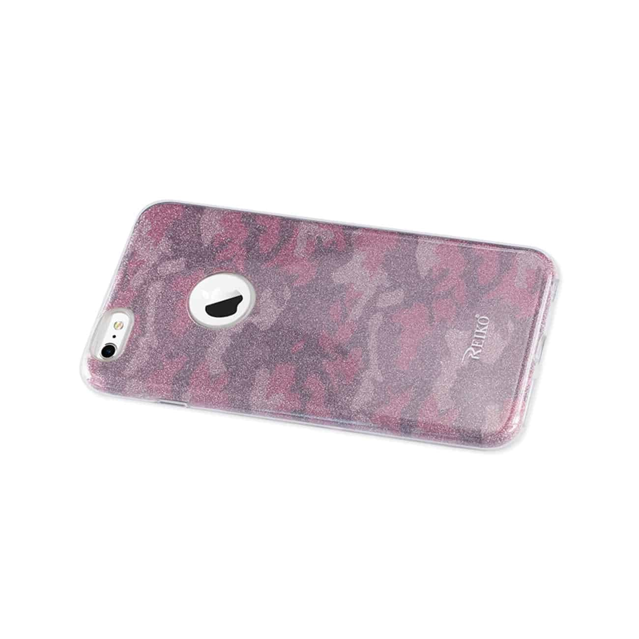 IPHONE 6 PLUS/ 6S PLUS SHINE GLITTER SHIMMER CAMOUFLAGE HYBRID CASE IN CAMOUFLAGE HOT PINK
