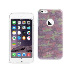 IPHONE 6 PLUS/ 6S PLUS SHINE GLITTER SHIMMER CAMOUFLAGE HYBRID CASE IN CAMOUFLAGE PURPLE