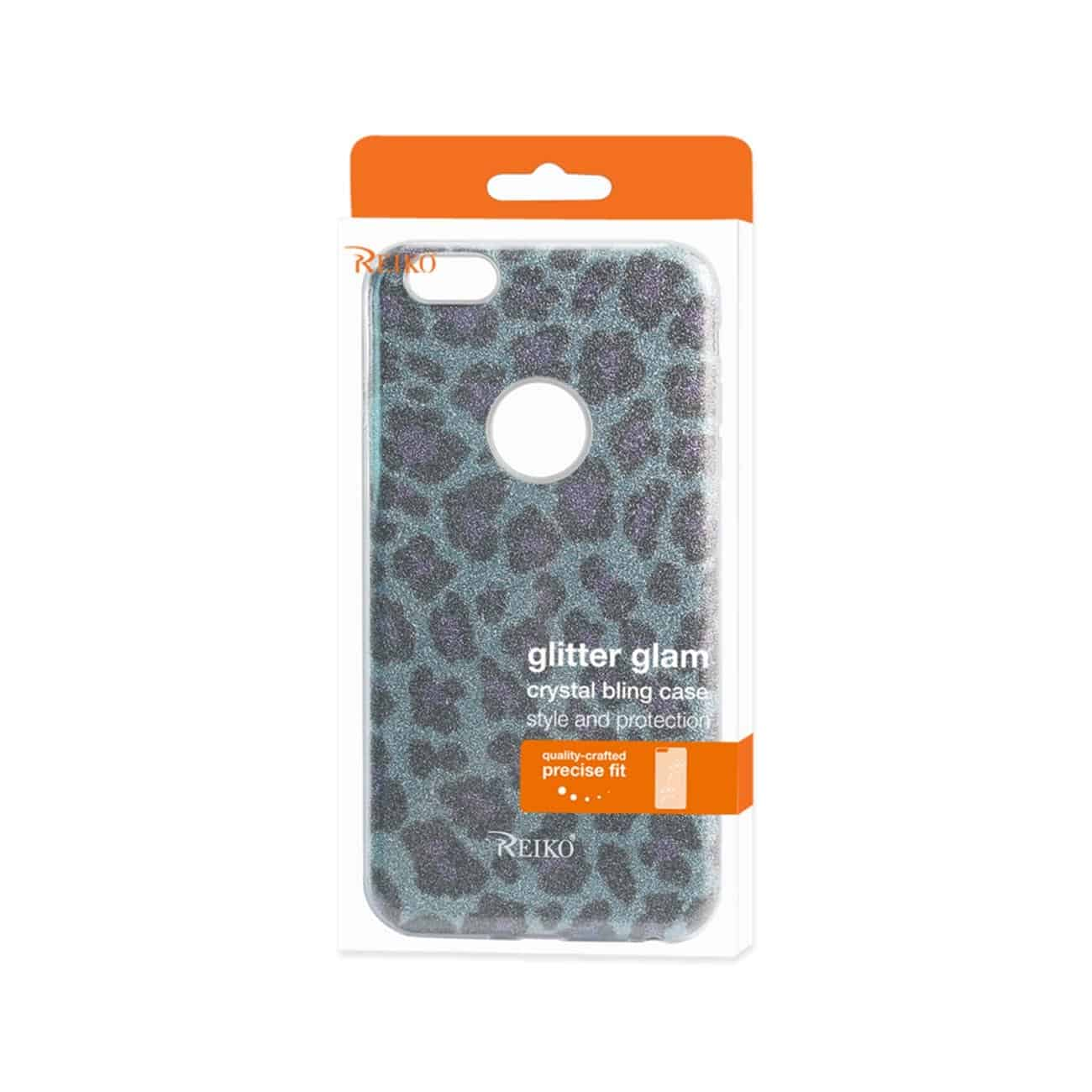 IPHONE 6 PLUS/ 6S PLUS SHINE GLITTER SHIMMER LEOPARD HYBRID CASE IN BLUE