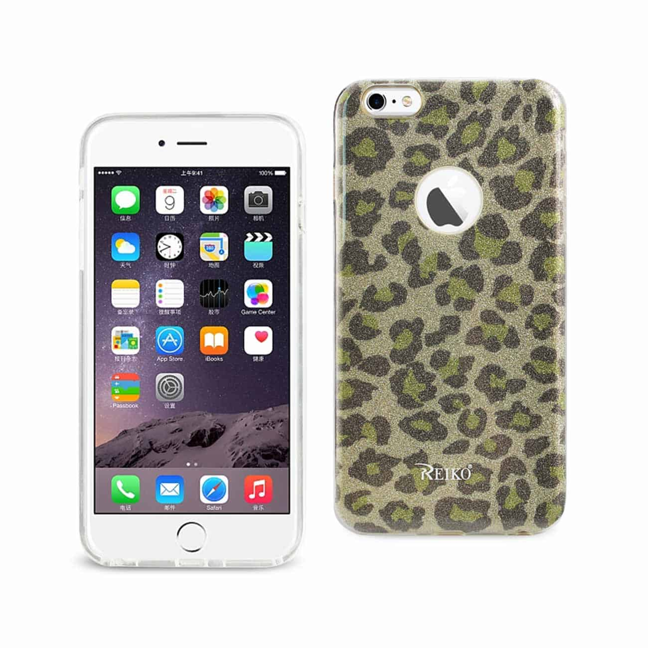 IPHONE 6 PLUS/ 6S PLUS SHINE GLITTER SHIMMER HYBRID CASE IN LEOPARD GOLD