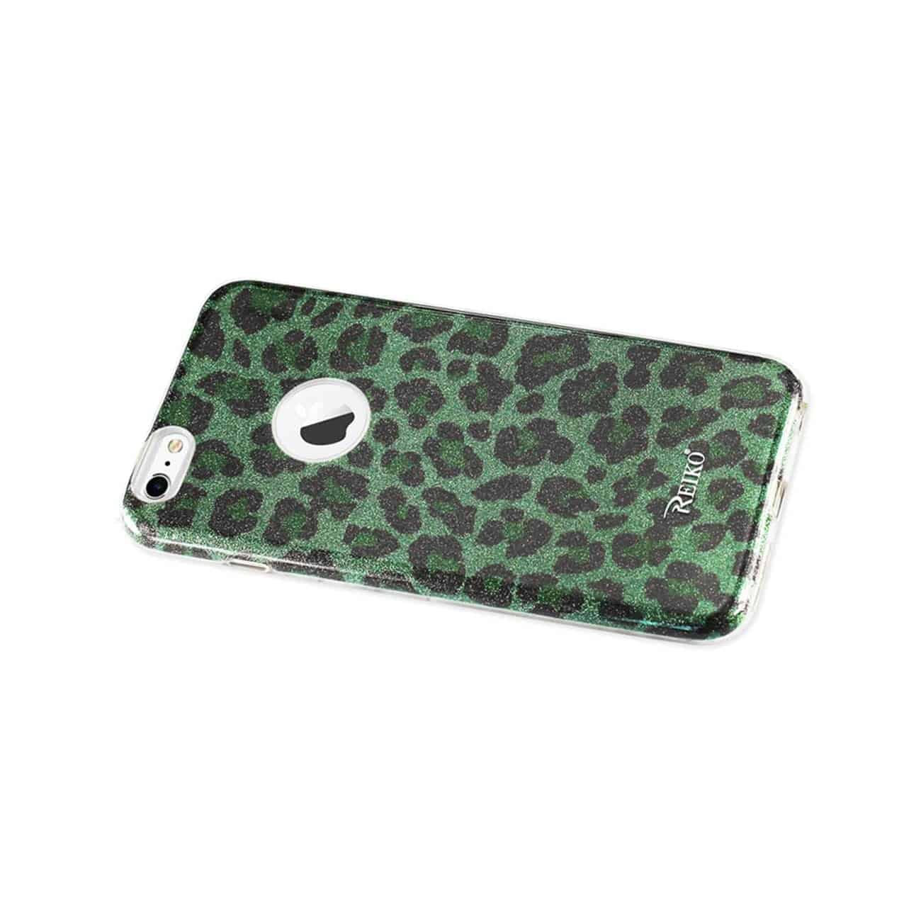 IPHONE 6 PLUS/ 6S PLUS SHINE GLITTER SHIMMER HYBRID CASE IN LEOPARD GREEN
