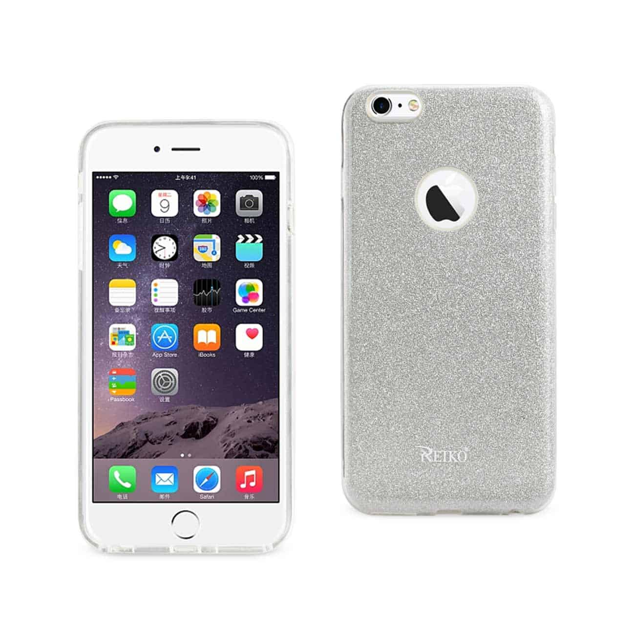 IPHONE 6 PLUS/ 6S PLUS SHINE GLITTER SHIMMER HYBRID CASE IN SILVER