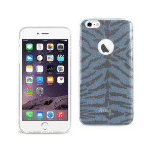 IPHONE 6 PLUS/ 6S PLUS SHINE GLITTER SHIMMER TIGER STRIPE HYBRID CASE IN BLUE
