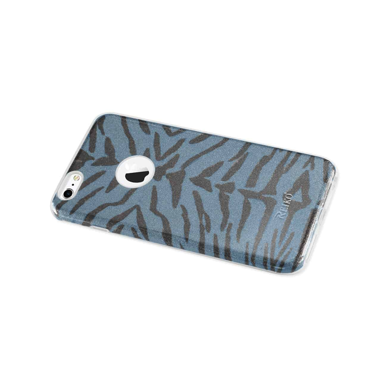 IPHONE 6 PLUS/ 6S PLUS SHINE GLITTER SHIMMER TIGER STRIPE HYBRID CASE IN BLUE