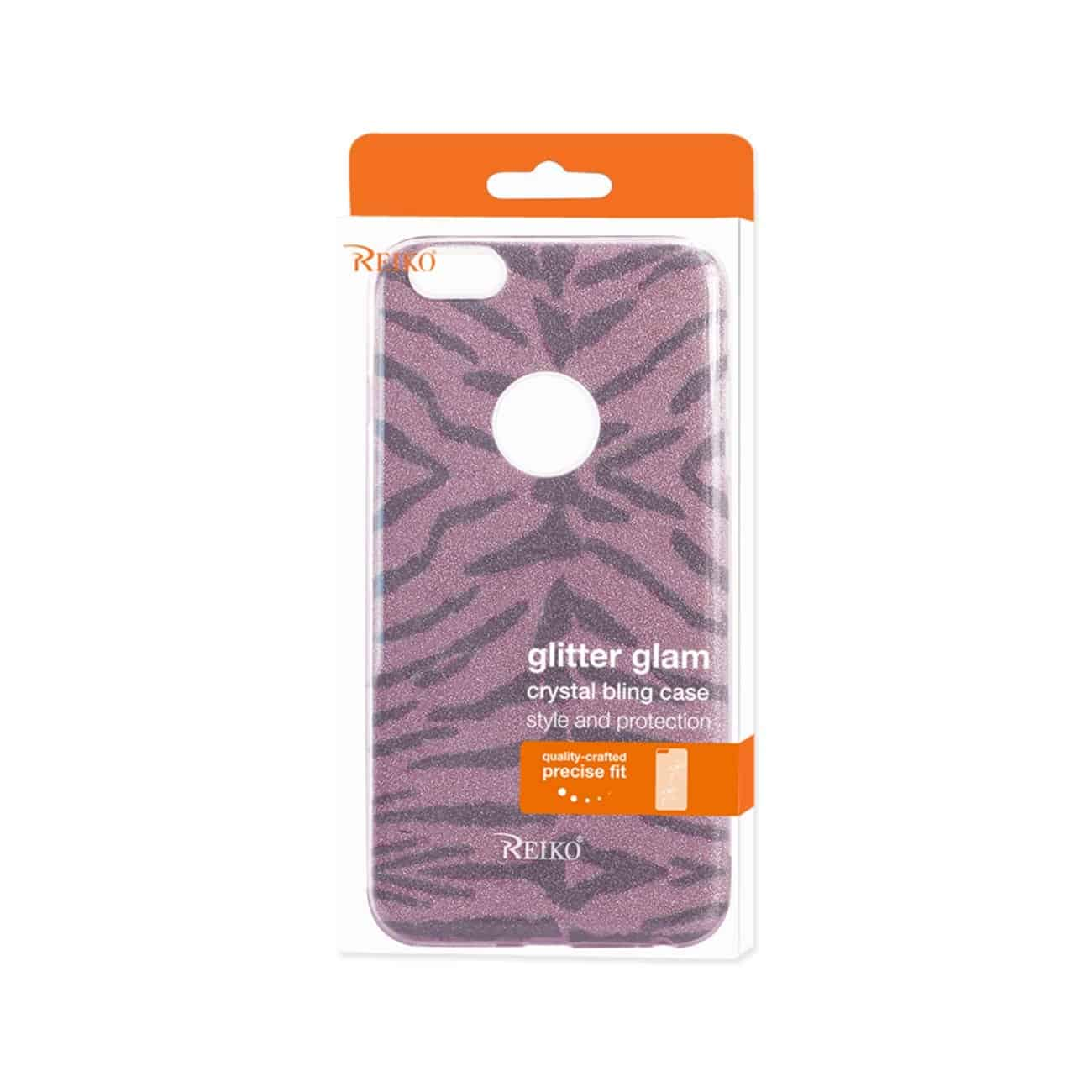 IPHONE 6 PLUS/ 6S PLUS SHINE GLITTER SHIMMER TIGER STRIPE HYBRID CASE IN HOT PINK