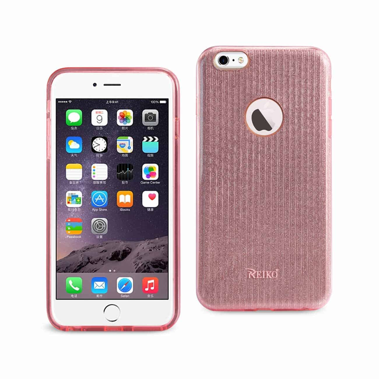 IPHONE 6 PLUS/ 6S PLUS SHINE GLITTER SHIMMER STRIPE HYBRID CASE IN LINEAR PINK