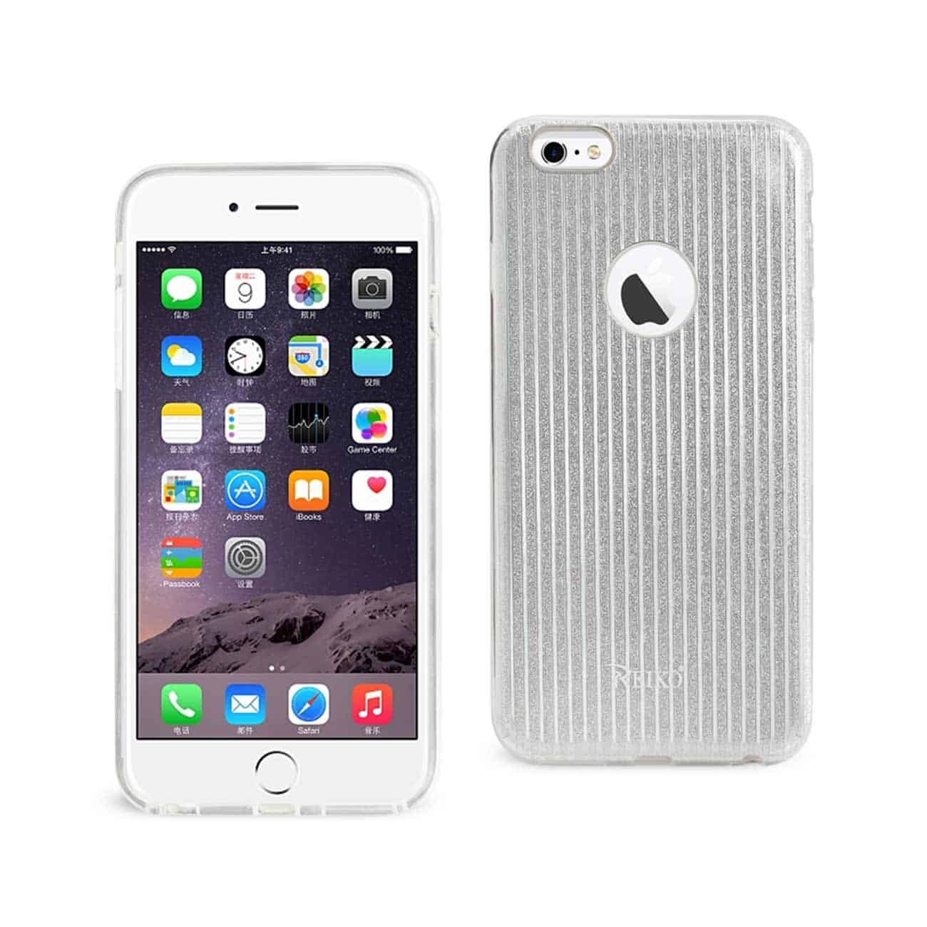 IPHONE 6 PLUS/ 6S PLUS SHINE GLITTER SHIMMER STRIPE HYBRID CASE IN LINEAR SILVER