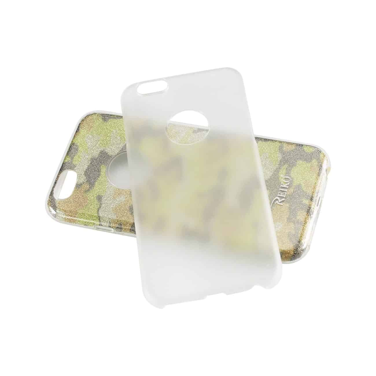 IPHONE 6/ 6S SHINE GLITTER SHIMMER CAMOUFLAGE HYBRID CASE IN YELLOW