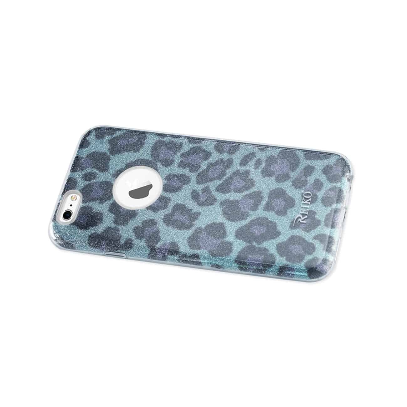 IPHONE 6/ 6S SHINE GLITTER SHIMMER LEOPARD HYBRID CASE IN BLUE