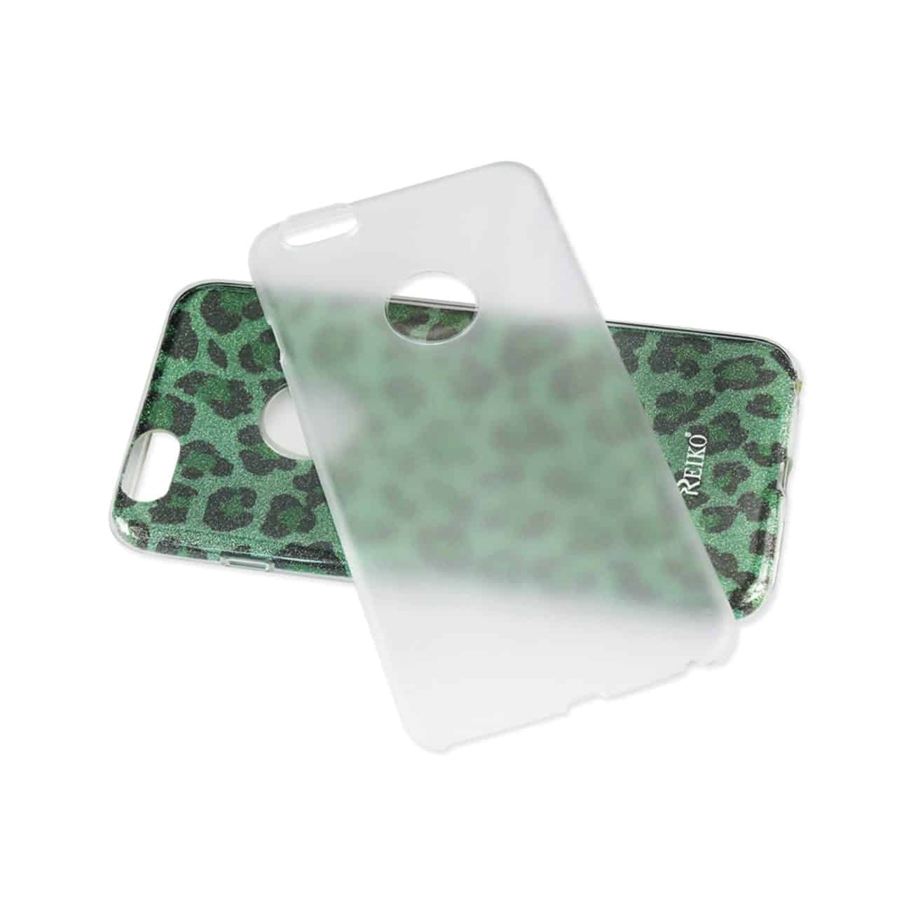 IPHONE 6/ 6S SHINE GLITTER SHIMMER LEOPARD HYBRID CASE IN LEOPARD GREEN