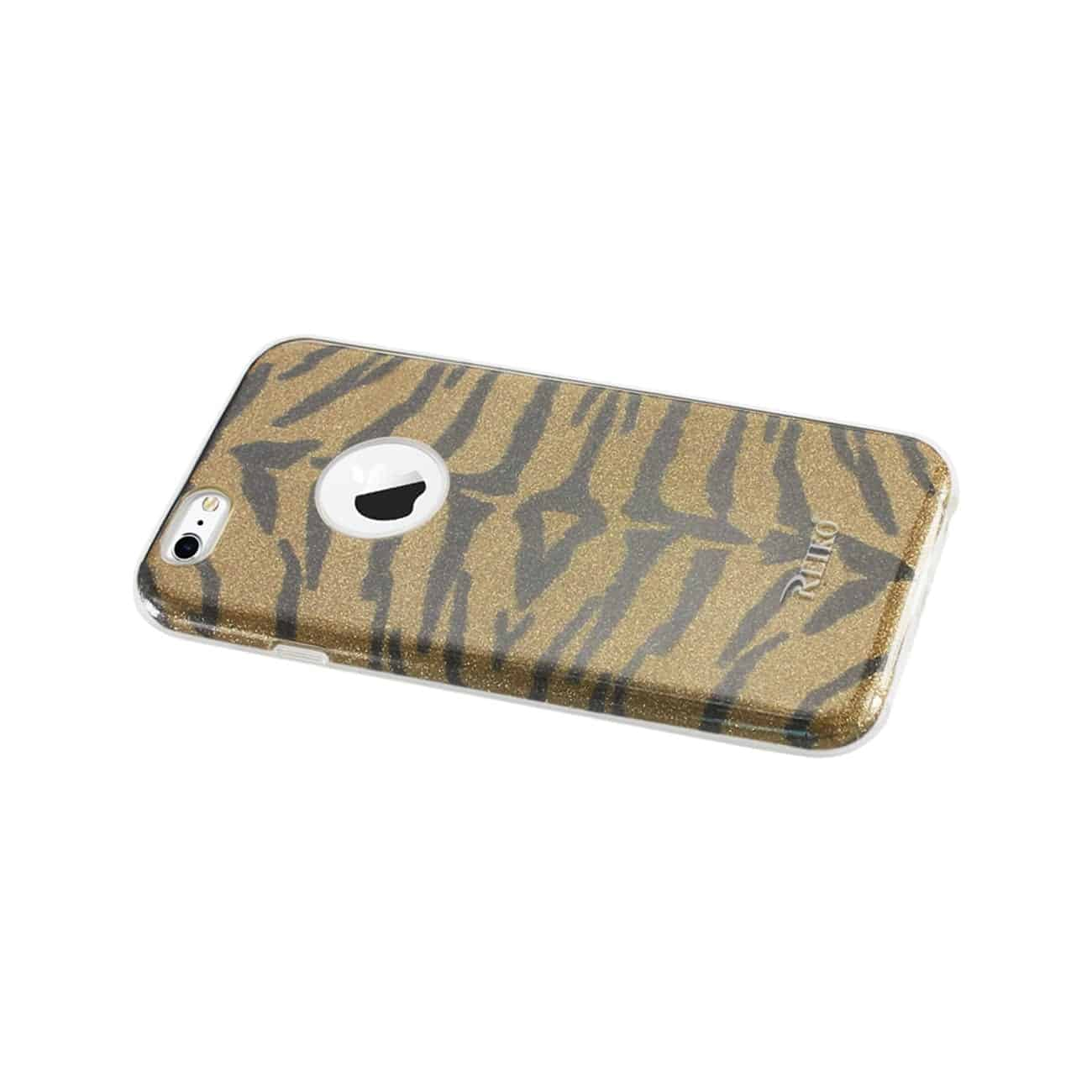 IPHONE 6/ 6S SHINE GLITTER SHIMMER TIGER STRIPE HYBRID CASE IN YELLOW