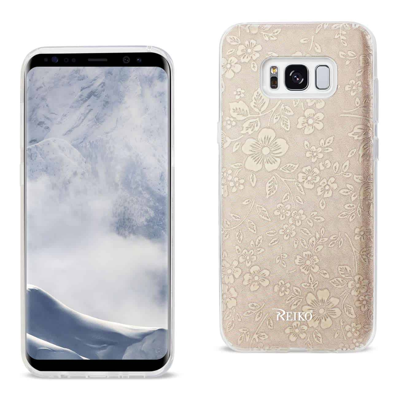 SAMSUNG GALAXY S8 EDGE/ S8 PLUS SHINE GLITTER SHIMMER PLUM BLOSSOM HYBRID CASE IN GOLD