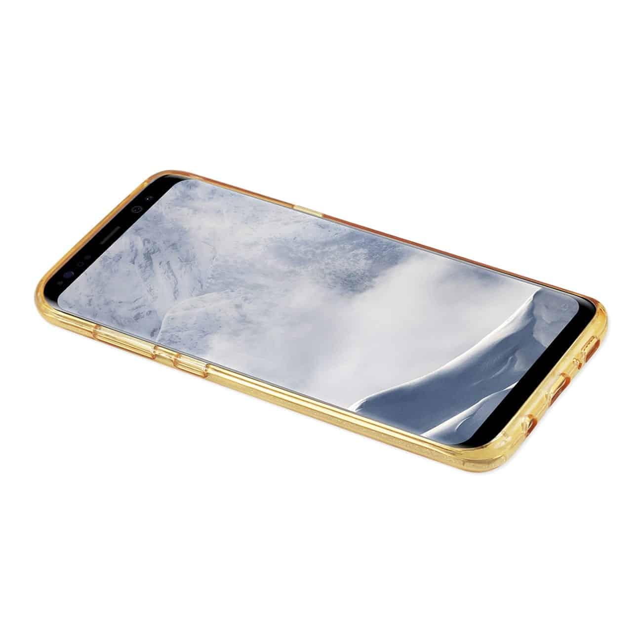 SAMSUNG GALAXY S8/ SM SHINE GLITTER SHIMMER LEOPARD HYBRID CASE IN GOLD