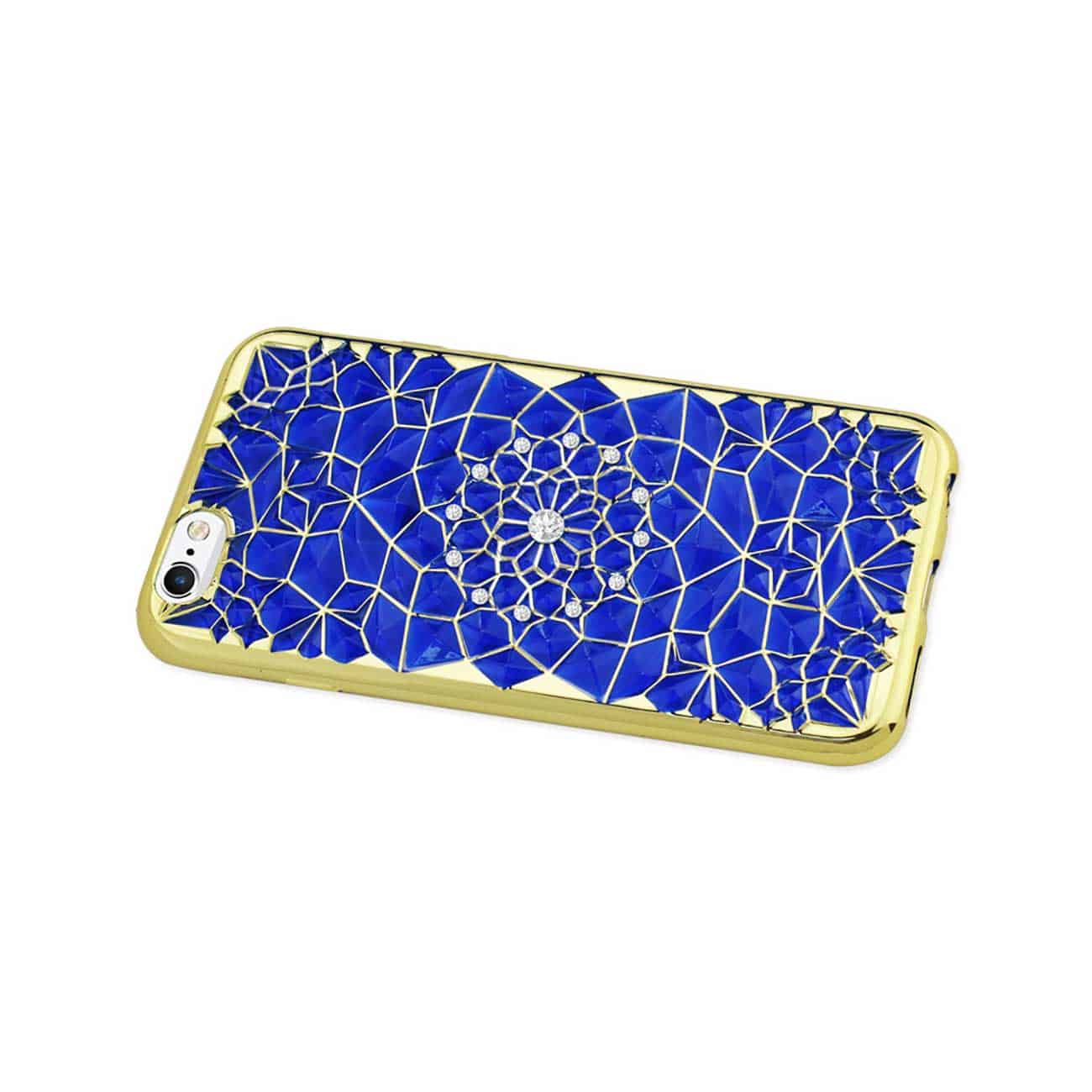 IPHONE 6 PLUS/ 6S PLUS SOFT TPU CASE WITH SPARKLING DIAMOND SUNFLOWER DESIGN IN NAVY
