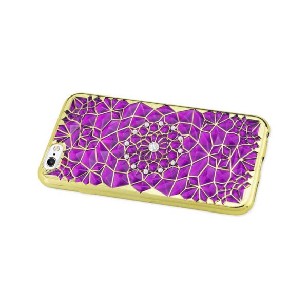 IPHONE 6 PLUS/ 6S PLUS SOFT TPU CASE WITH SPARKLING DIAMOND SUNFLOWER DESIGN IN PURPLE