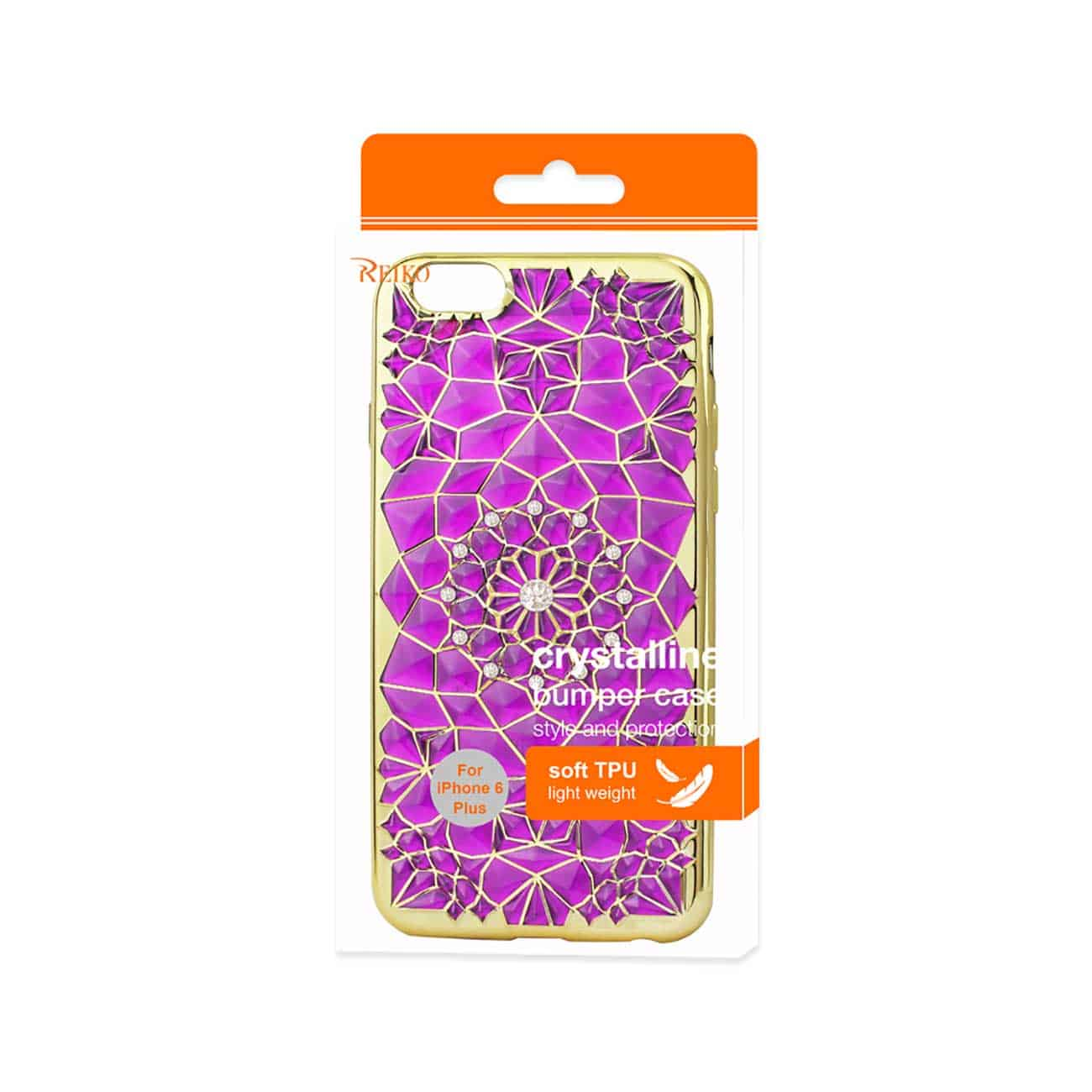 IPHONE 6 PLUS/ 6S PLUS SOFT TPU CASE WITH SPARKLING DIAMOND SUNFLOWER DESIGN IN PURPLE