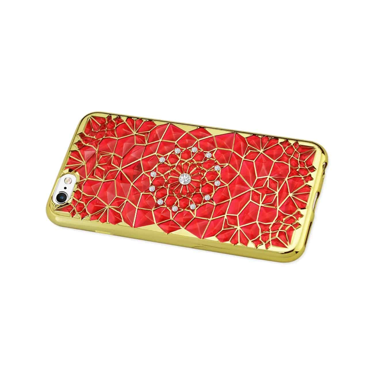 IPHONE 6/ 6S SOFT TPU CASE WITH SPARKLING DIAMOND SUNFLOWER DESIGN IN RED