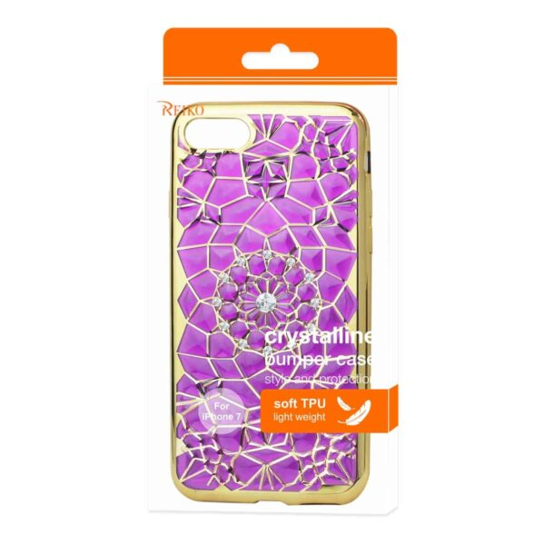IPHONE 7 SOFT TPU CASE WITH SPARKLING DIAMOND SUNFLOWER DESIGN IN PURPLE
