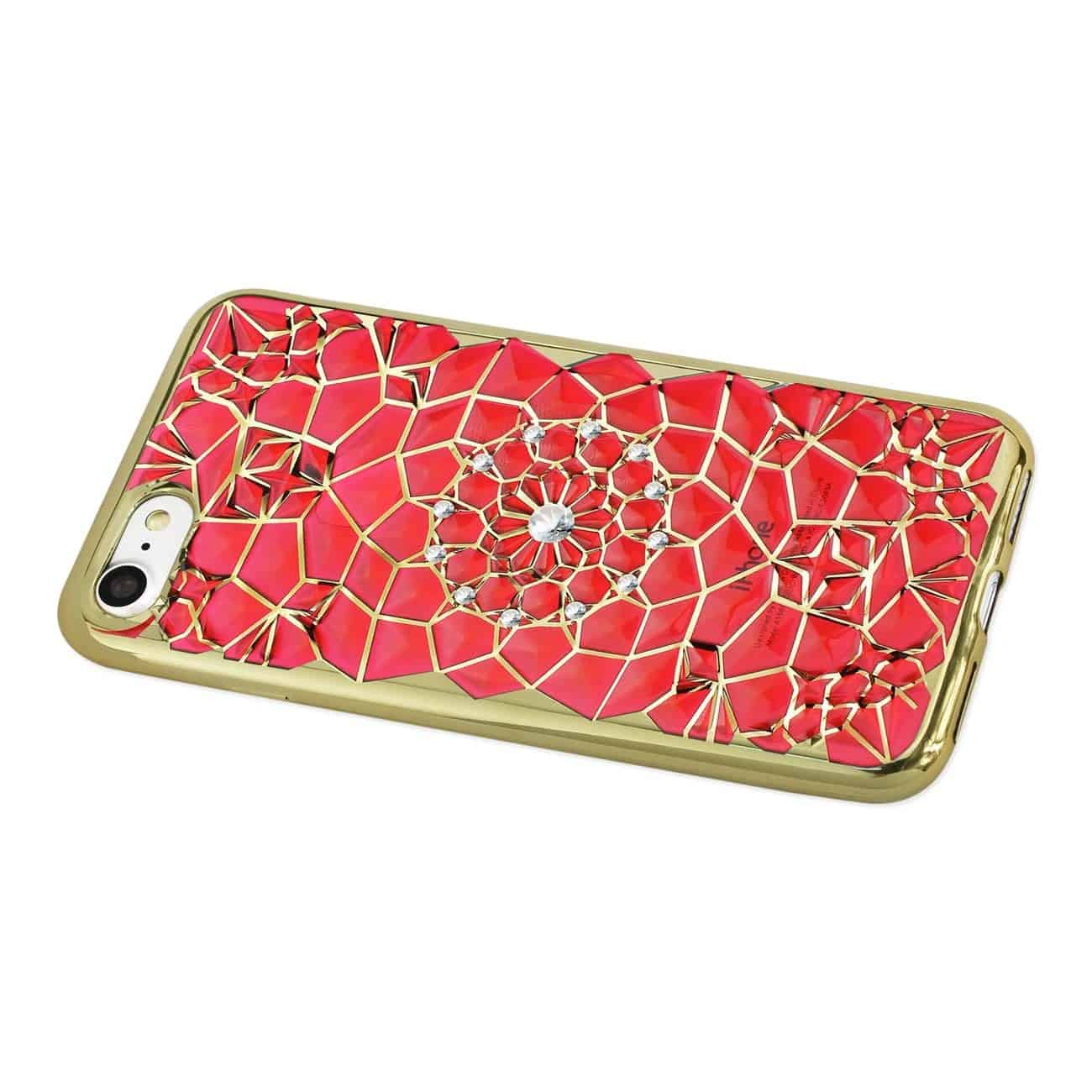 IPHONE 7 SOFT TPU CASE WITH SPARKLING DIAMOND SUNFLOWER DESIGN IN RED