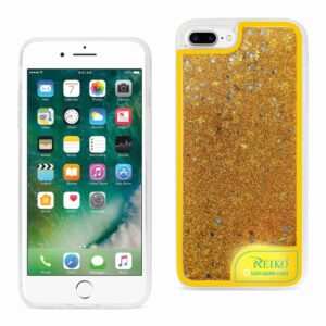IPHONE 7 PLUS CASE WITH FLOWING GLITTER AND LED EFFECT IN YELLOW