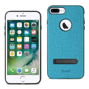 iPhone 8 Plus/ 7 Plus Rugged Texture TPU Protective Cover In Blue