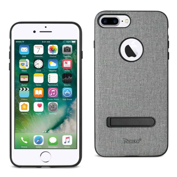 iPhone 8 Plus/ 7 Plus Rugged Texture TPU Protective Cover In Gray