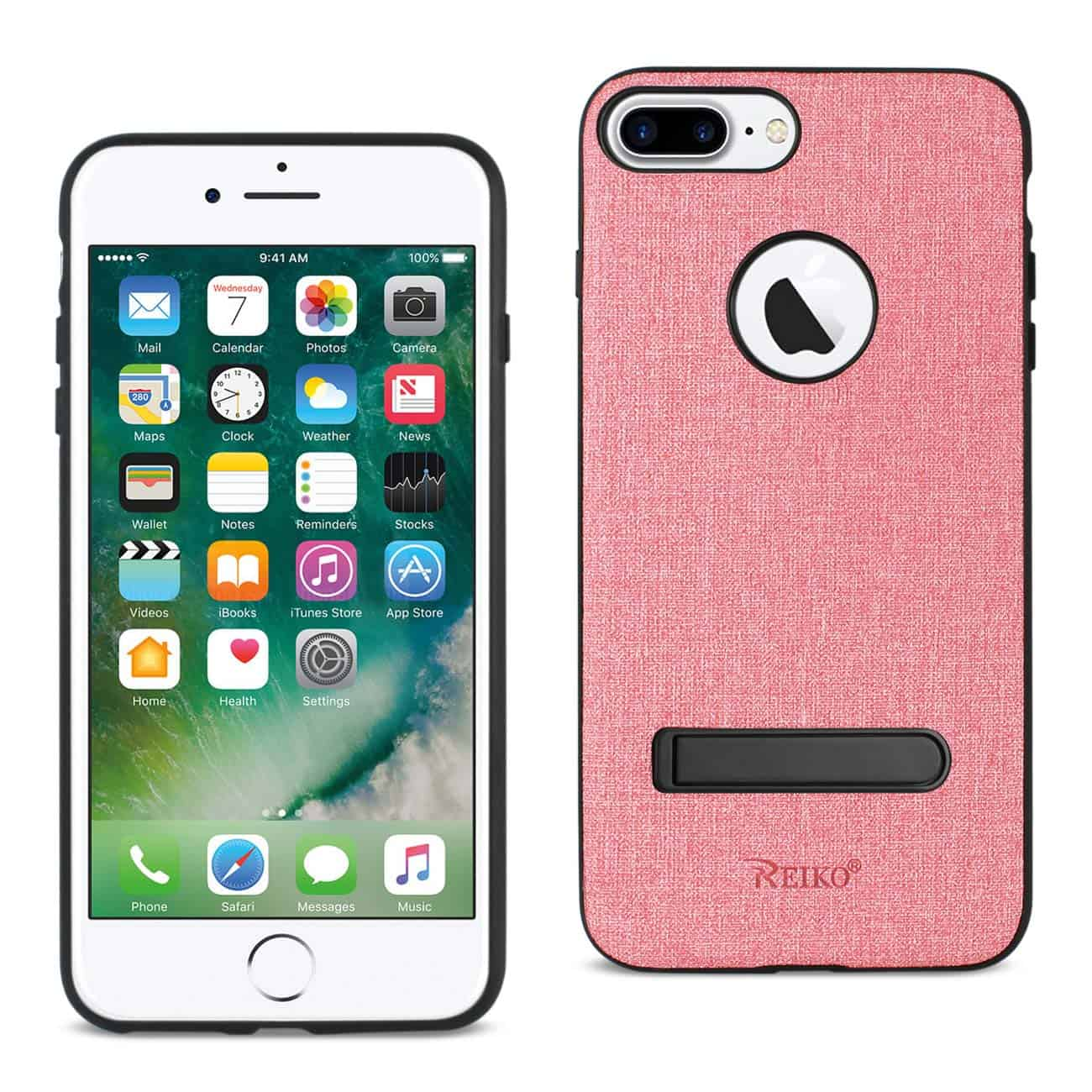 IPHONE 7 PLUS/ 8 PLUS  RUGGED TEXTURE TPU PROTECTIVE COVER IN PINK