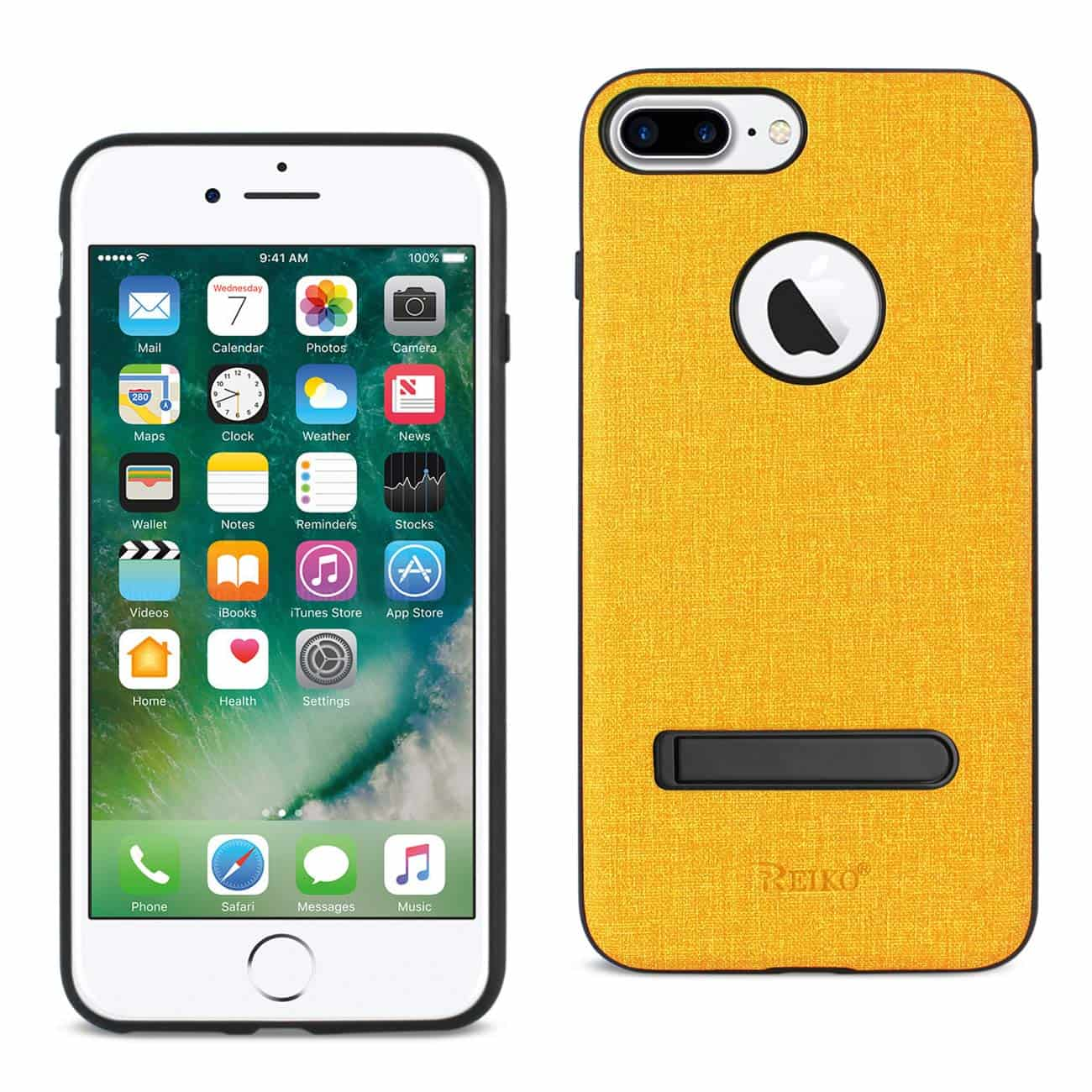 IPHONE 7 PLUS/ 6S PLUS/ 6 PLUS RUGGED TEXTURE TPU PROTECTIVE COVER IN YELLOW