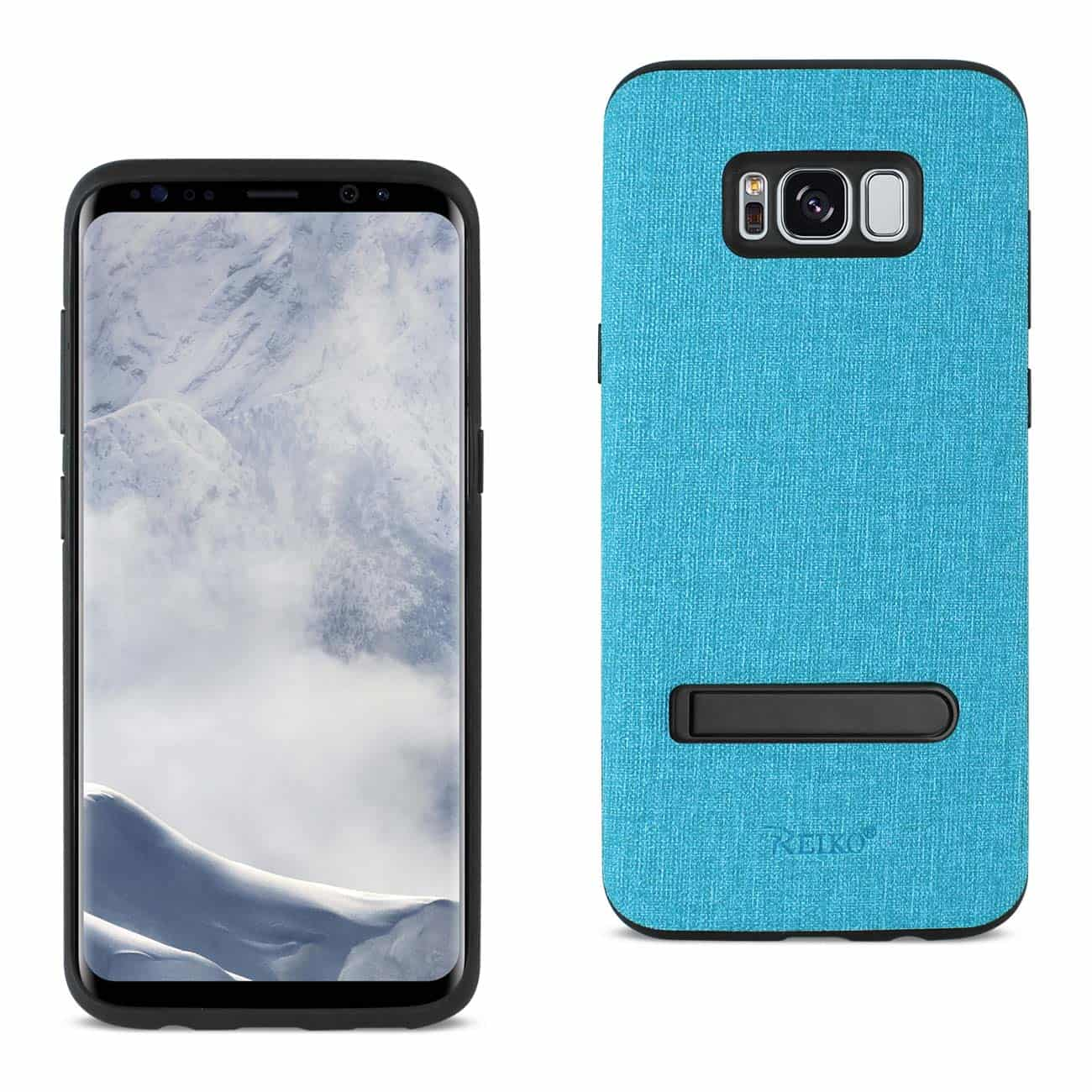 SAMSUNG GALAXY S8 EDGE/ S8 PLUS DENIM TEXTURE TPU PROTECTOR COVER IN BLUE