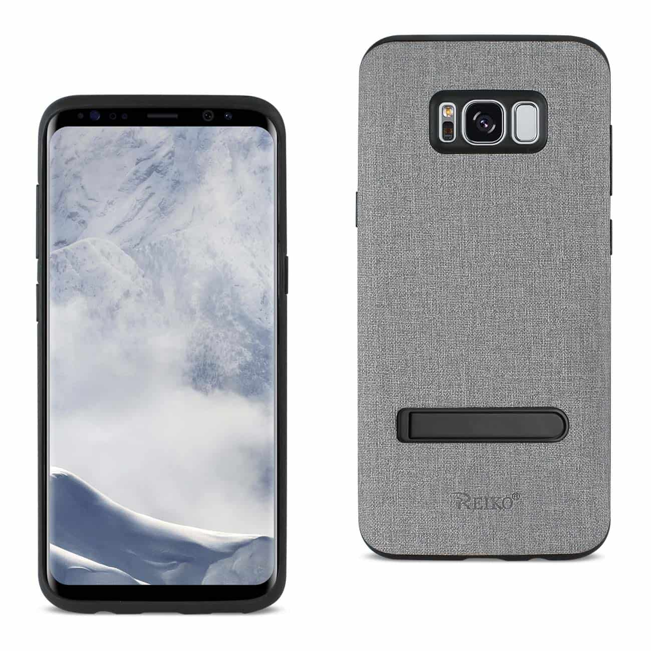 SAMSUNG GALAXY S8 EDGE/ S8 PLUS DENIM TEXTURE TPU PROTECTOR COVER IN GRAY