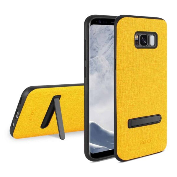 SAMSUNG GALAXY S8 EDGE/ S8 PLUS DENIM TEXTURE TPU PROTECTOR COVER IN YELLOW