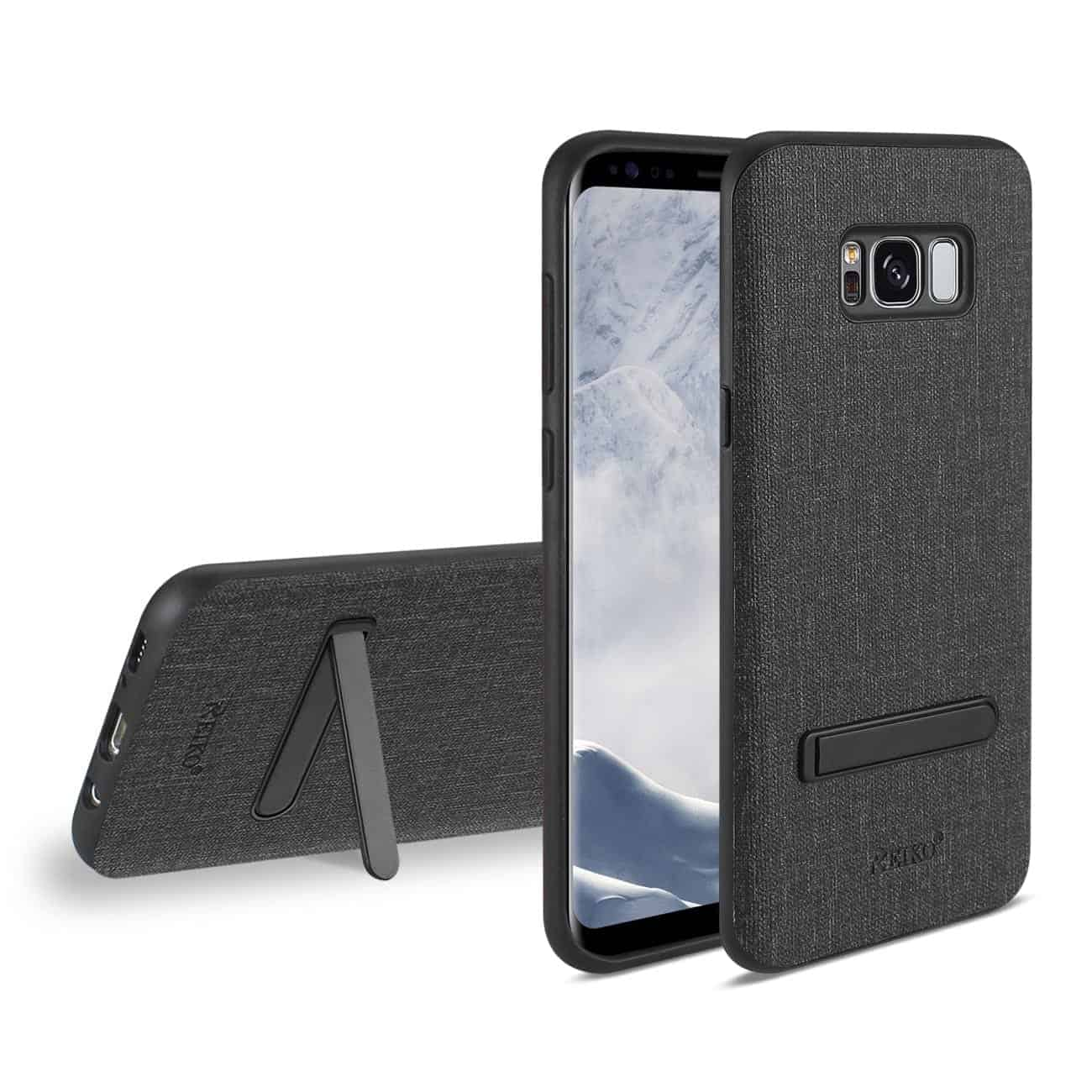 SAMSUNG GALAXY S8/ SM DENIM TEXTURE TPU PROTECTOR COVER IN BLACK