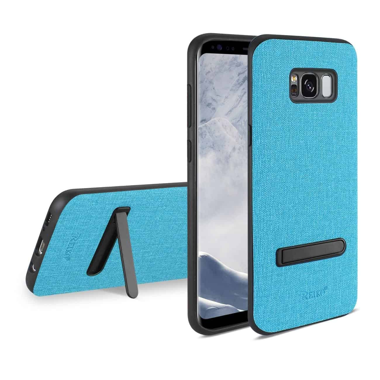 SAMSUNG GALAXY S8/ SM DENIM TEXTURE TPU PROTECTOR COVER IN BLUE