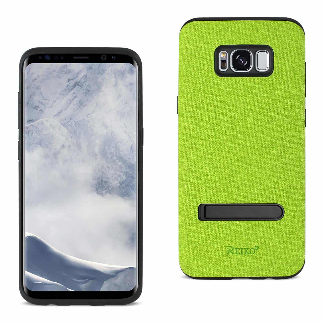 SAMSUNG GALAXY S8/ SM DENIM TEXTURE TPU PROTECTOR COVER IN GREEN