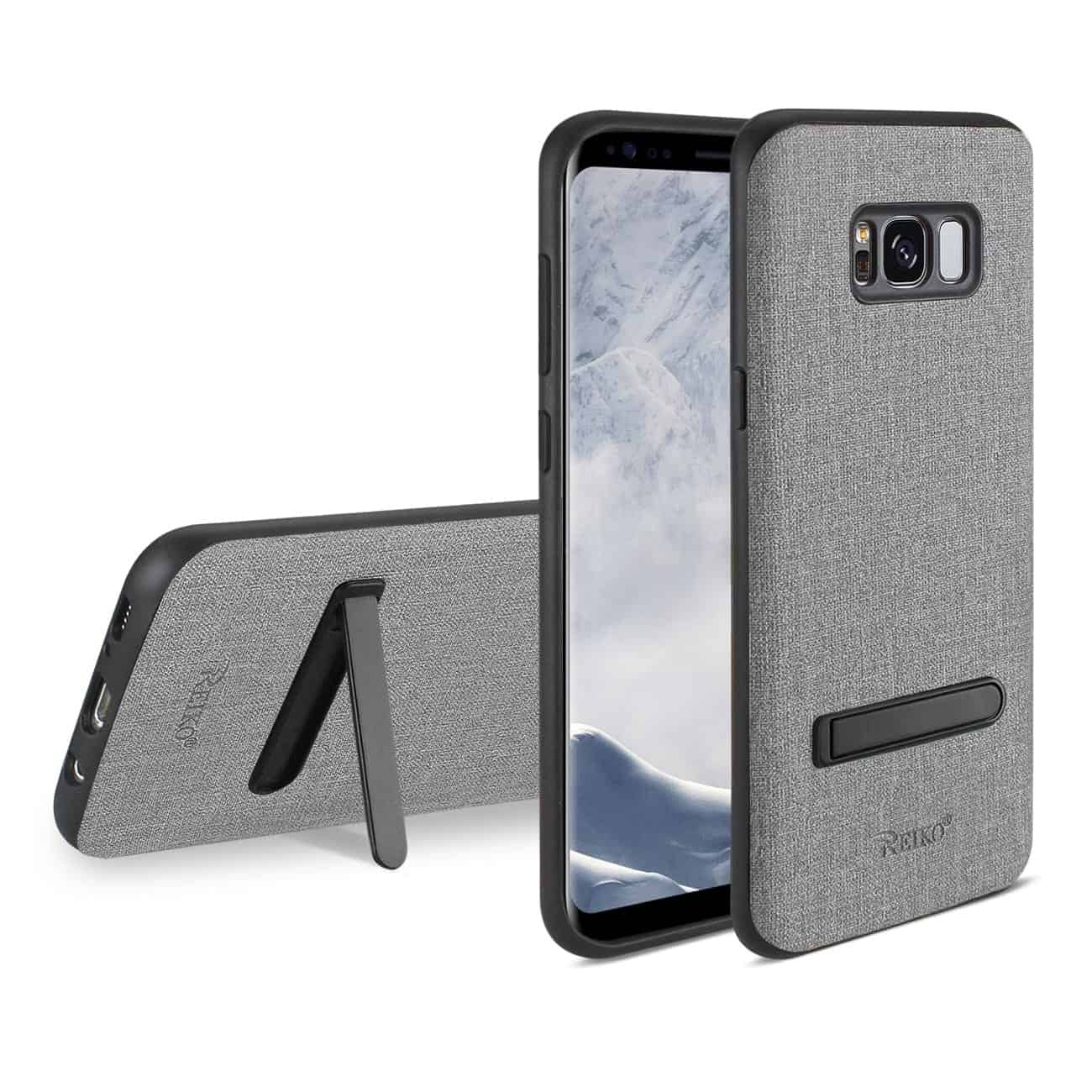 SAMSUNG GALAXY S8/ SM DENIM TEXTURE TPU PROTECTOR COVER IN GRAY