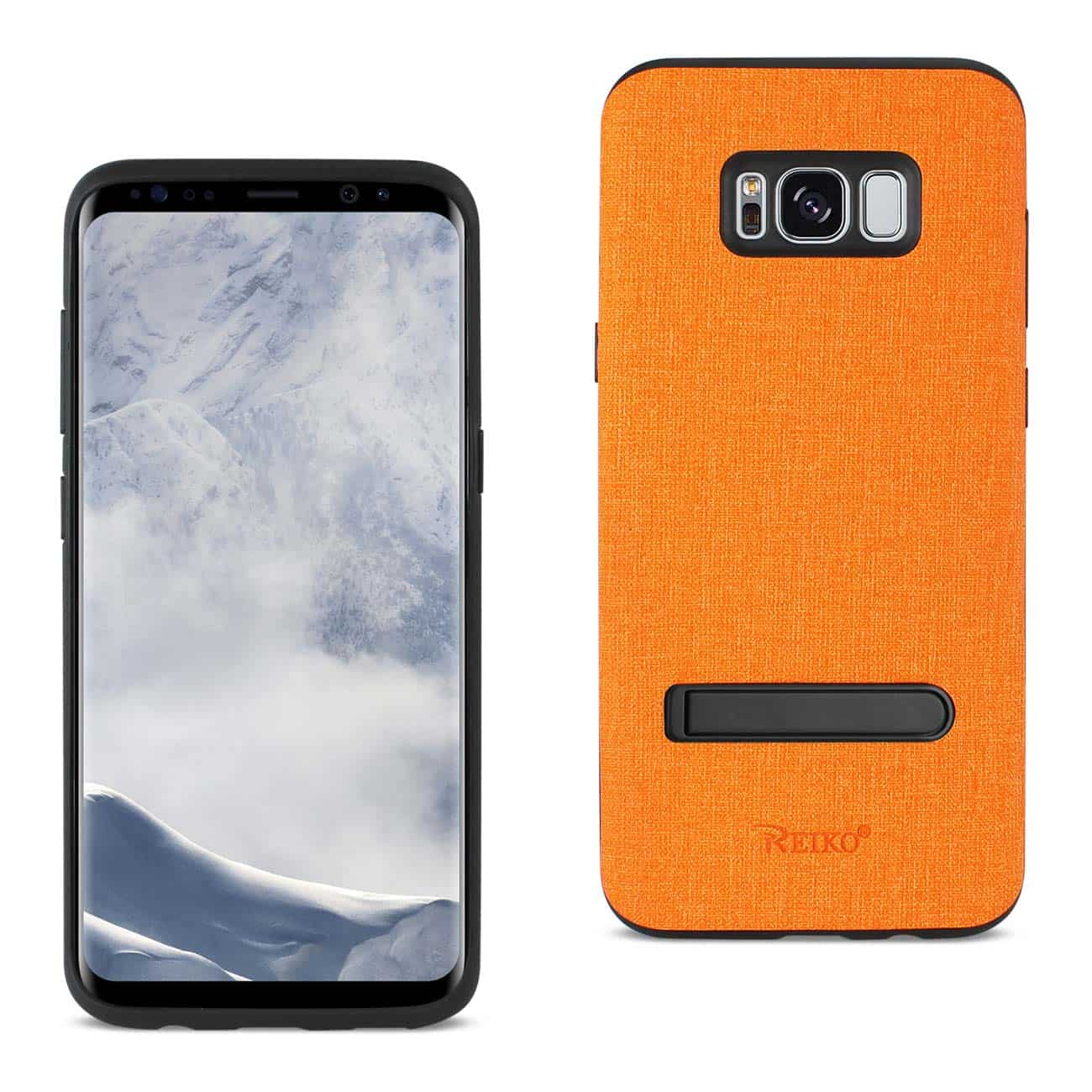 SAMSUNG GALAXY S8/ SM DENIM TEXTURE TPU PROTECTOR COVER IN ORANGE