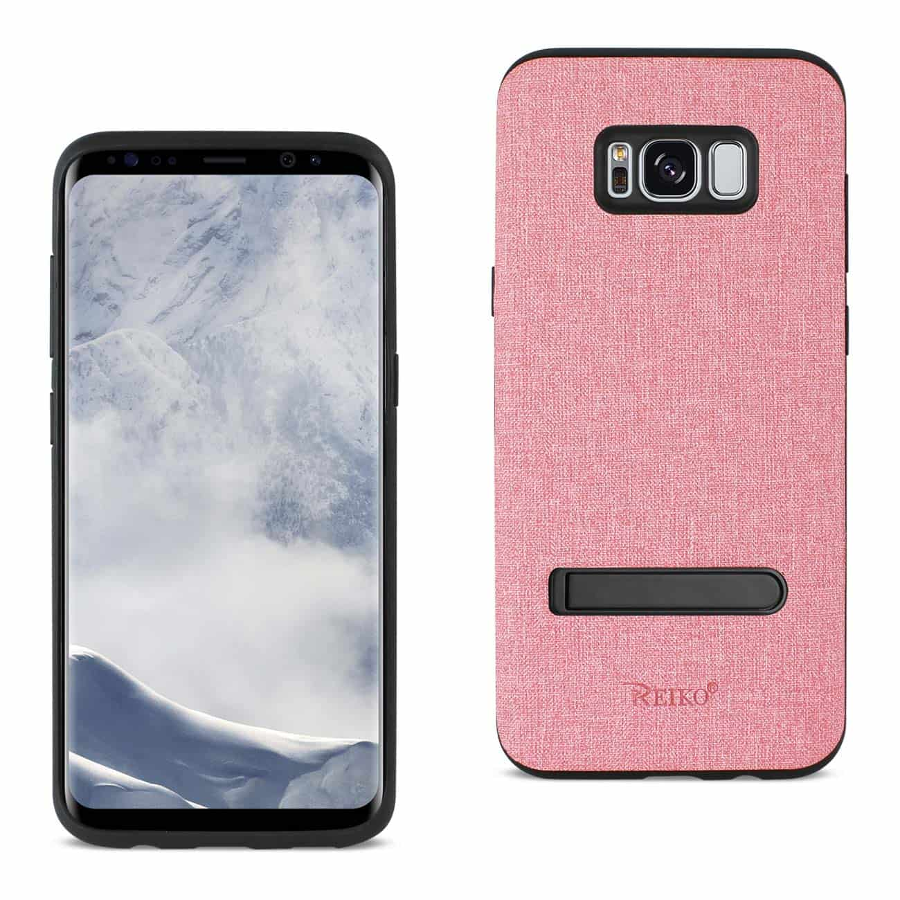 SAMSUNG GALAXY S8/ SM DENIM TEXTURE TPU PROTECTOR COVER IN PINK
