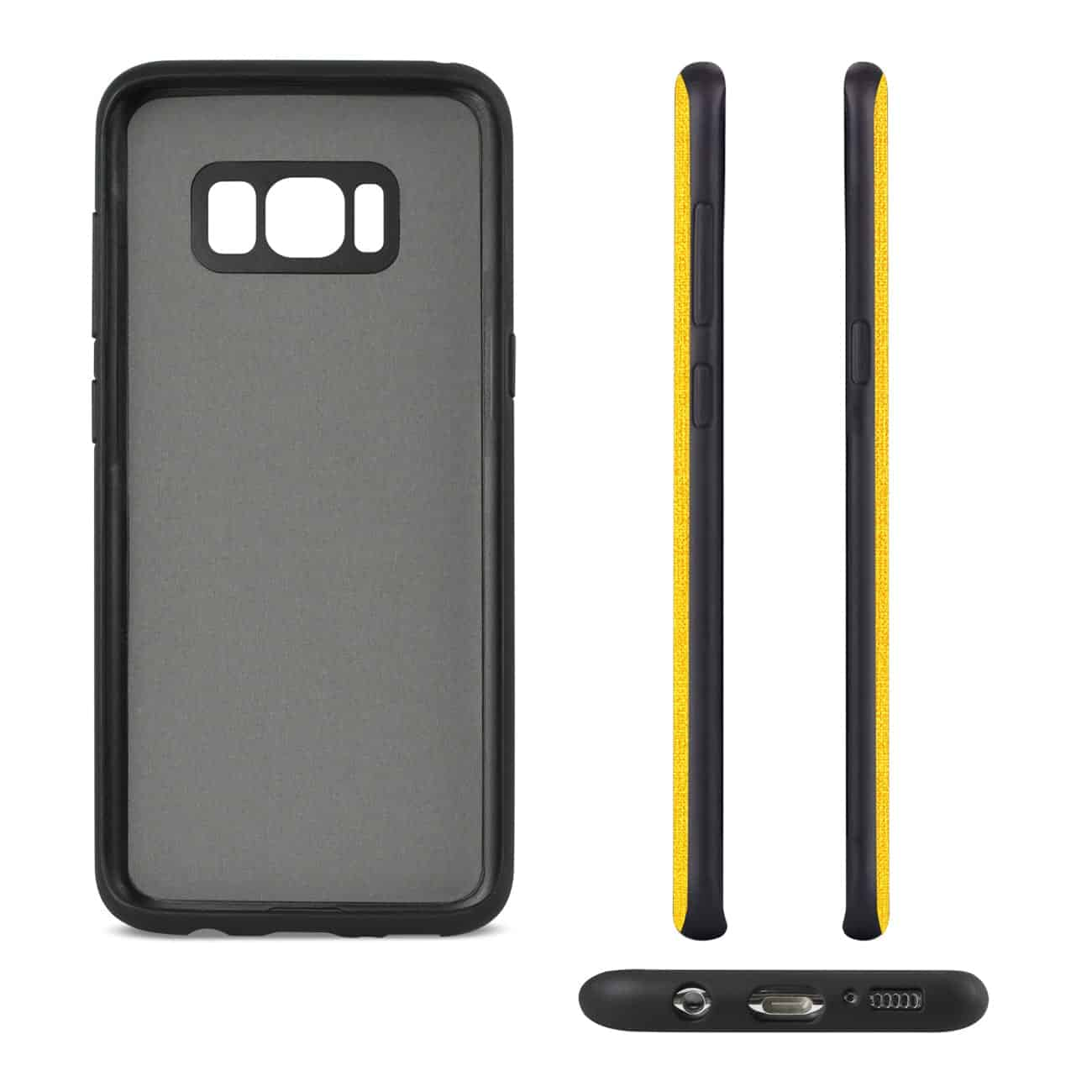 SAMSUNG GALAXY S8/ SM DENIM TEXTURE TPU PROTECTOR COVER IN YELLOW