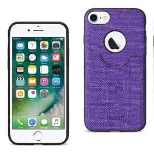 IPHONE 7 ANTI-SLIP TEXTURE PROTECTOR COVER WITH CARD SLOT IN PURPLE