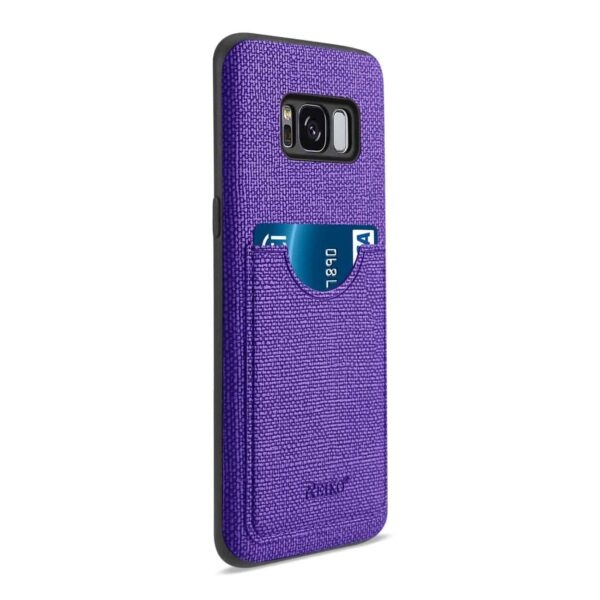 SAMSUNG GALAXY S8/ SM ANTI-SLIP TEXTURE PROTECTOR COVER WITH CARD SLOT IN PURPLE