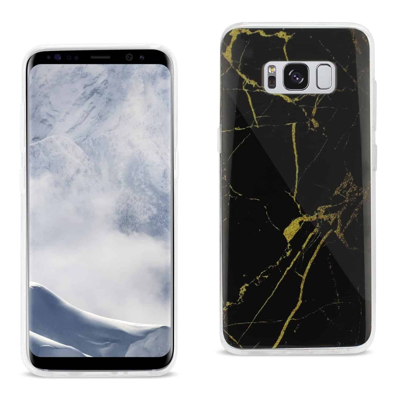 SAMSUNG GALAXY S8 EDGE/ S8 PLUS STREAK MARBLE IPHONE COVER IN BLACK